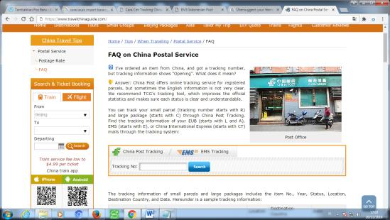 Cek Tracking China